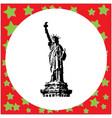black 8-bit statue of liberty vector image