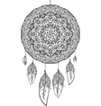 Black and white doodle dream catcher vector image vector image