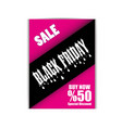 black friday flyer template eps file vector image vector image