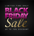 black friday sale vertical banner glossy vector image