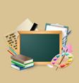 blackboard composition vector image vector image