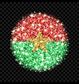 burkina faso flag sparkling badge vector image