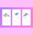 business situations - set of isometric vector image vector image