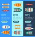 cartoon color boats banner vecrtical set vector image vector image