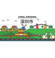 china shenzhen city skyline architecture vector image vector image