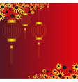 Chinese lantern background vector image vector image