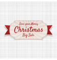 christmas big sale greeting badge vector image vector image