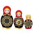 colorful matryoshka dolls vector image