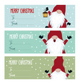cute flat design christmas labels collection with vector image vector image