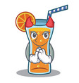 devil cocktail character cartoon style vector image vector image