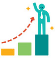 effective growth flat vector image vector image