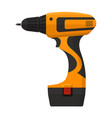 electric screwdriver in flat design vector image