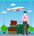 european businessman at the airport vector image vector image