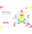 flat isometric landing page template new vector image vector image