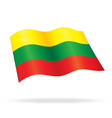 flying lithuanian flag lithuania silk vector image vector image