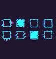 glitch broken frames distortion dynamic square vector image