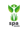 Green logo for Spa salon vector image vector image