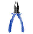 halftone dot pliers icon vector image