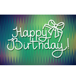Happy Birthday card design lettering and geometric vector image