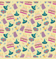 happy birthday pattern in vector image vector image