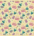 happy birthday pattern vector image vector image