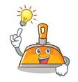 have an idea dustpan character cartoon style vector image vector image