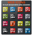headphones icon set vector image vector image