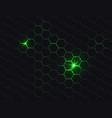 hexagonal polygon abstract dark background vector image
