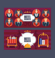 hotel service banner vector image