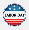 labor day usa pin vector image vector image