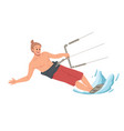 man surfing riding on water summer leisure vector image vector image