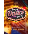 mega party dance poster background template vector image vector image