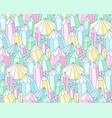 multicolor crystals pattern vector image vector image