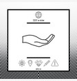 open hand - line icon vector image vector image