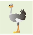 ostrich doodle cartoon vector image