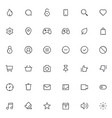 outline icons for web and mobile 36 icons 2 pixel vector image