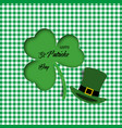 paper art of clover leaf and hat 3d clover leaf vector image vector image