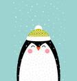 penguin in a scandinavian vector image vector image