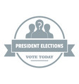 president election logo simple gray style vector image vector image