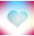 Red heart glassy beautiful icon Love concept vector image vector image