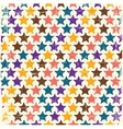 Retro seamless stars pattern vector image vector image