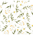 seamless floral hand drawn mix for fashion fabric vector image vector image