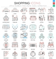 Shopping e-commerce color line outline