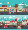 shopping street horizontal banners vector image