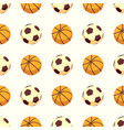 sport seamless pattern - soccer or football and vector image vector image
