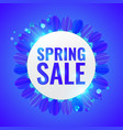 spring sale concept banner vector image vector image