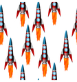 Starting red rocket vector image vector image