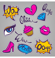 sticker pack vector image