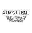 tag graffiti font street tag alphabet vector image vector image