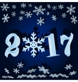 The numbers and snowflakes New 2017 vector image vector image
